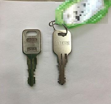 左:作成した合鍵   右:お持ちいただいたカギ